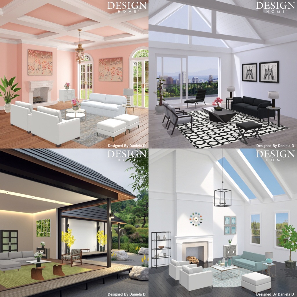 Designs created in the Design Home App